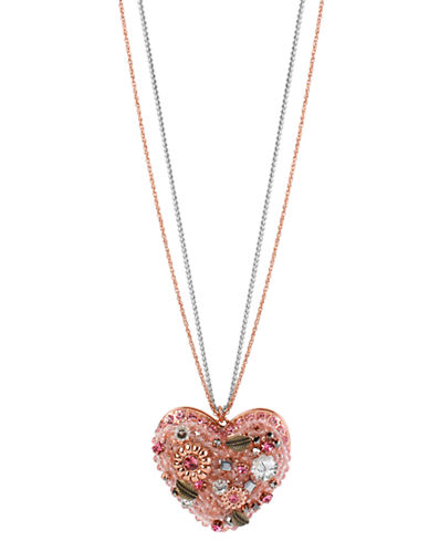 BETSEY JOHNSONVintage Pink Heart Pendant Necklace