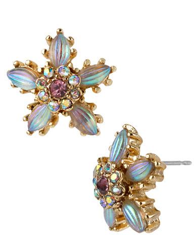 BETSEY JOHNSONCarved Flower Stud Earrings