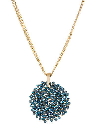 KENNETH COLE NEW YORKGemstone Pendant Drop Necklace