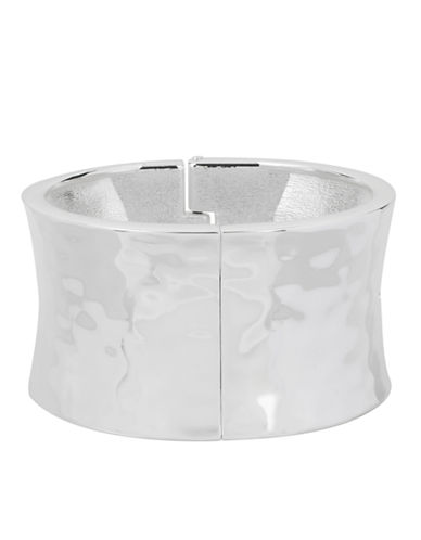 ROBERT LEE MORRIS SOHOSilver-Tone Sculptural Bangle Bracelet