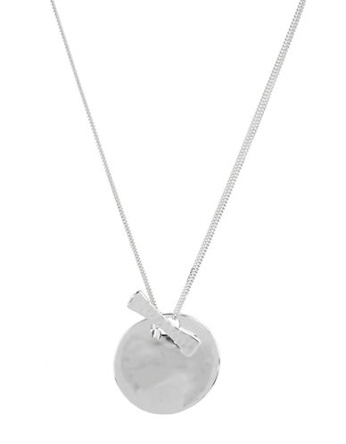 ROBERT LEE MORRIS SOHO Circle and Toggle Pendant Necklace