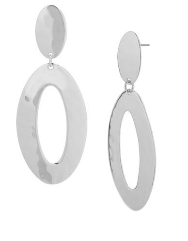 ROBERT LEE MORRIS SOHOSilver-Tone Open Oval Drop Earrings