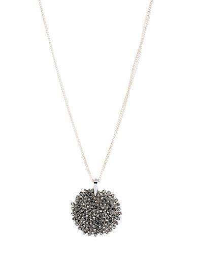 KENNETH COLE NEW YORKBlack Diamond-Crystal Woven Pendant Necklace