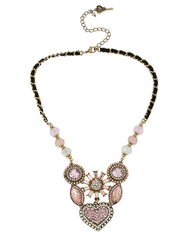 Crystallized Vintage Heart Six-Piece Necklace