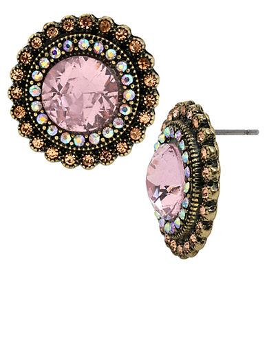 BETSEY JOHNSONCrystal Gem Button Earrings