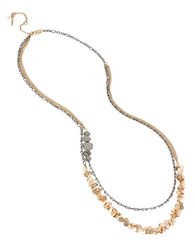 KENNETH COLE NEW YORK Two-Row Shaky Geometric Bead Necklace