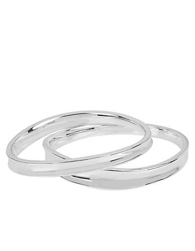 ROBERT LEE MORRIS SOHOSilver-Tone Sculptural Bangle Bracelet Set - 2