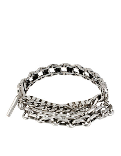KENNETH COLE NEW YORKSilver Tone Multi Chain Bracelet