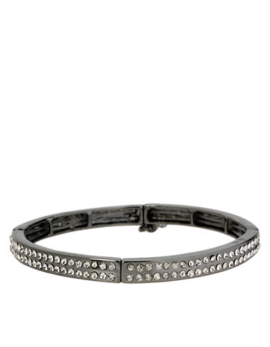 KENNETH COLE NEW YORKHematite Tone and Crystal Stretch Bracelet