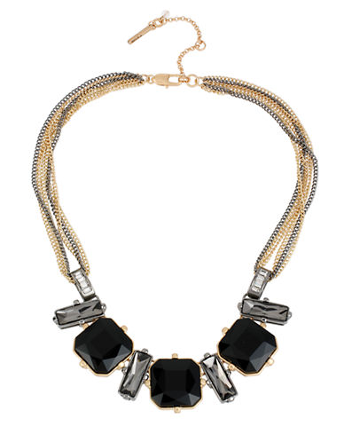 KENNETH COLE NEW YORK Geometric Faceted Bead Frontal Necklace