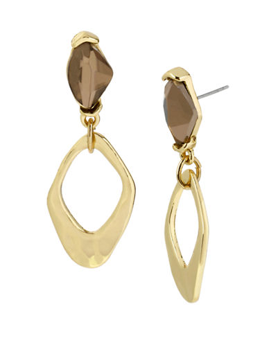 ROBERT LEE MORRIS SOHO Gold Plated Faceted Bead and Link Drop Earrings