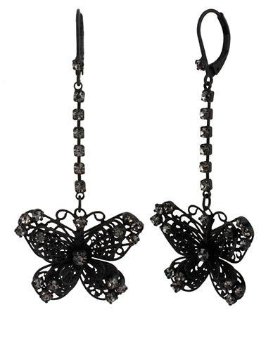 BETSEY JOHNSONFiligree Butterfly Linear Earrings