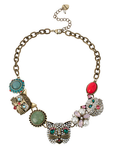 BETSEY JOHNSON Cat Frontal Necklace
