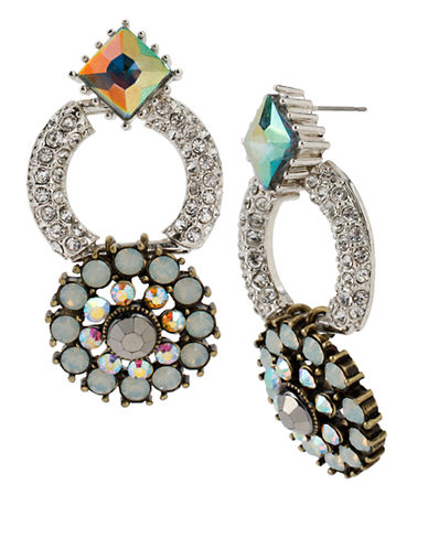 BETSEY JOHNSON Crystal Ring and Round Drop Earrings