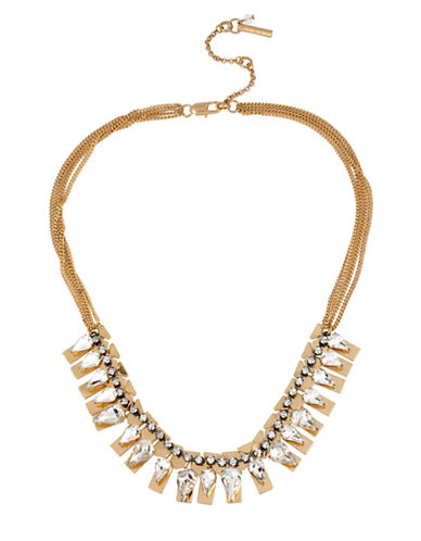 KENNETH COLE NEW YORKCrystal Faceted Bead Geometric Frontal Necklace
