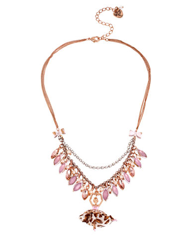 BETSEY JOHNSONShaky Faceted Bead and Ballerina Pendant Necklace
