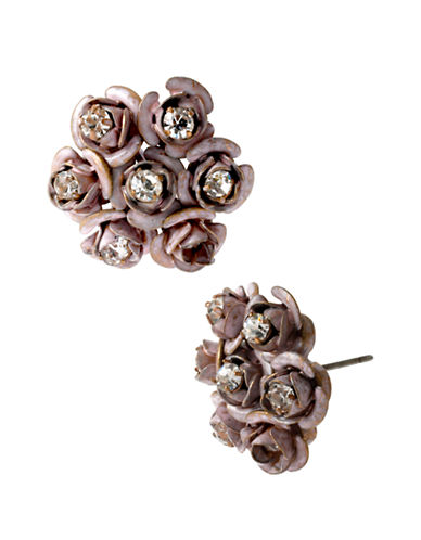 BETSEY JOHNSONPatina Rose Cluster Stud Earrings