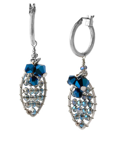 KENNETH COLE NEW YORKSilver-Tone Faceted Oval Drop Earrings