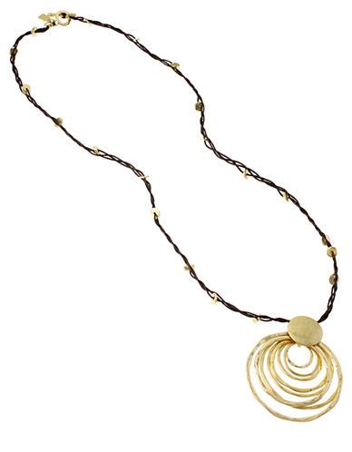 ROBERT LEE MORRIS SOHOHammered Metal Pendant Necklace