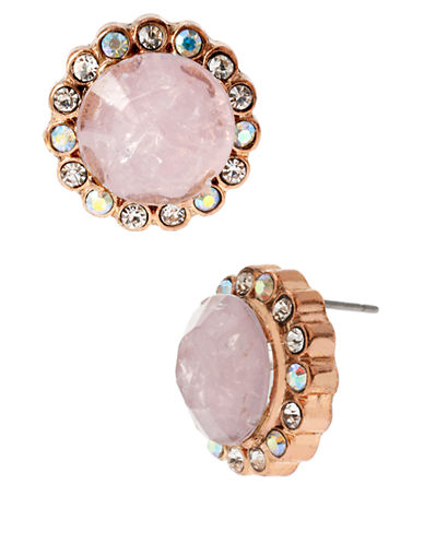 BETSEY JOHNSONFaceted Bead Round Stud Earrings