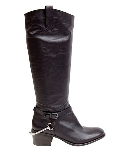 STEVEN BY STEVE MADDEN Sturrip Tall Leather Boots