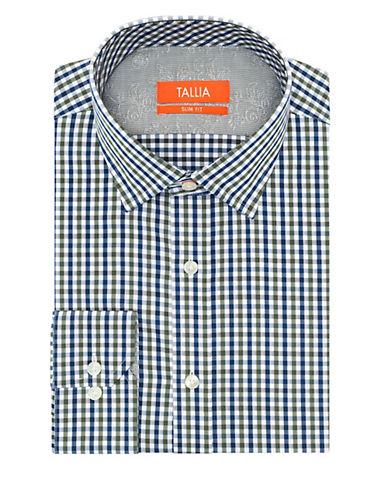 TALLIA ORANGESlim Fit Gingham Check Dress Shirt