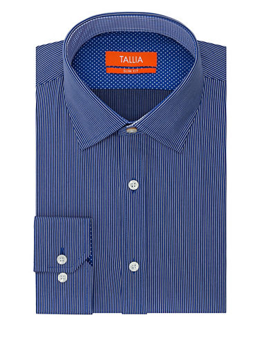 TALLIA ORANGESlim Fit Micro Stripe Dress Shirt