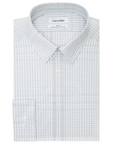 CALVIN KLEINSlim Fit Plaid Check Dress Shirt