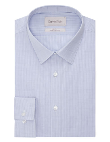 CALVIN KLEIN Slim Fit Micro Check Dress Shirt