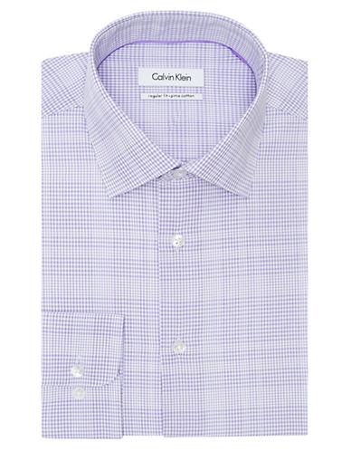 CALVIN KLEINRegular Fit Plaid Check Dress Shirt