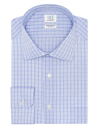 IKE BY IKE BEHARClassic Fit Twill Check Dress Shirt