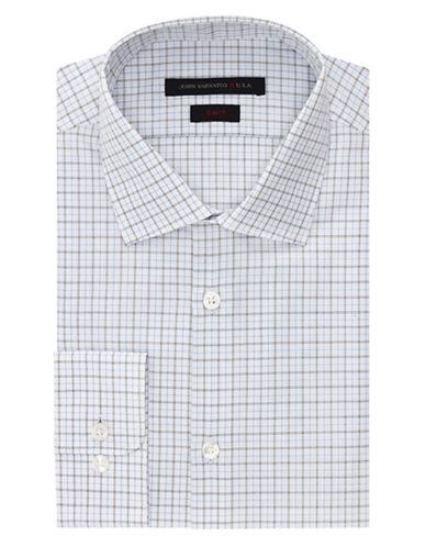 John Varvatos U.S.A. Slim Fit Checkered Dress Shirt
