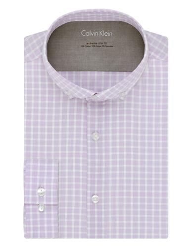 CALVIN KLEINSlim Fit Checkered Dress Shirt