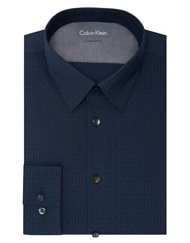 CALVIN KLEINExtreme Slim Fit Tonal Print Dress Shirt