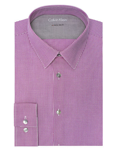 CALVIN KLEINSlim Fit Micro Check Dress Shirt