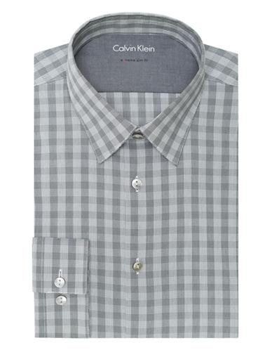 CALVIN KLEINSlim Fit Check Dress Shirt