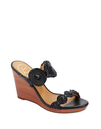jack rogers female luccia leather patent leather wedge sandals