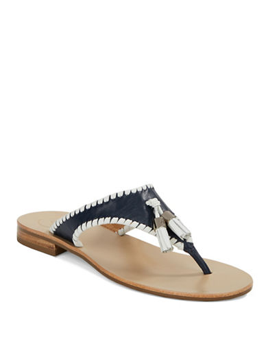JACK ROGERS Alana Leather Thong Sandals