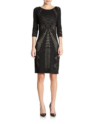 Shop Calvin Klein online and buy Calvin Klein Lazer Cut Sheath Dress dress online