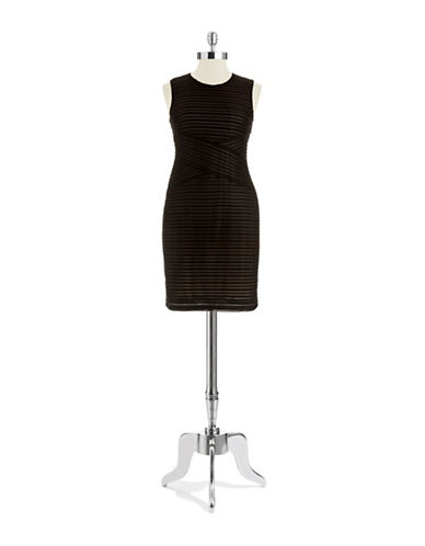 Shop Calvin Klein online and buy Calvin Klein Textured Shift Dress dress online