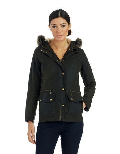 BARBOUR Faux Fur Accented Jacket