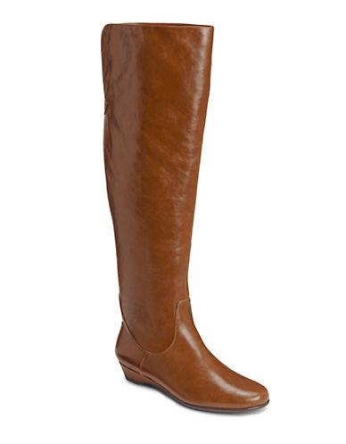AEROSOLESBakingsota Faux Leather Knee-High Boots