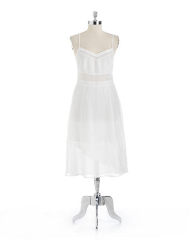 A-Line Dress With Chiffon Trim