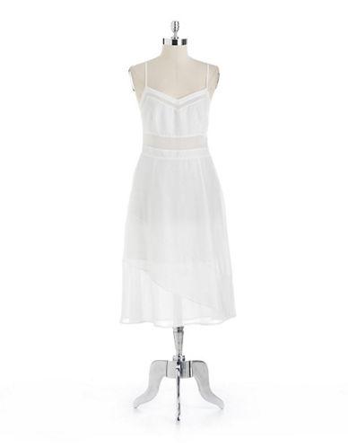 A-Line Dress With Chiffon Trim