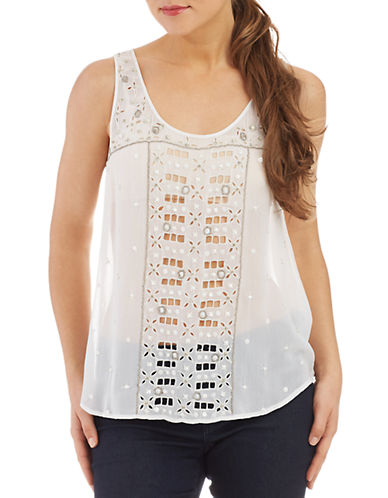 FRENCH CONNECTIONEmbroidered Sleeveless Top