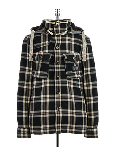 SUPERDRY Lightweight Plaid Car Coat