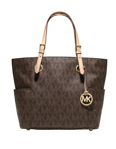 MICHAEL MICHAEL KORS East West Signature Leather Tote Bag