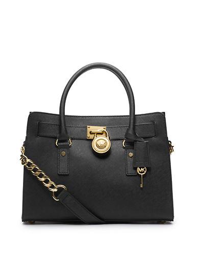 Michael Michael Kors Hamilton East West Leather Satchel Bag
