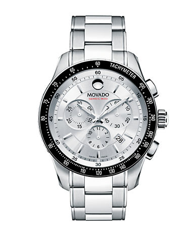 MOVADO Mens Silver Stainless Steel Chronograph Watch