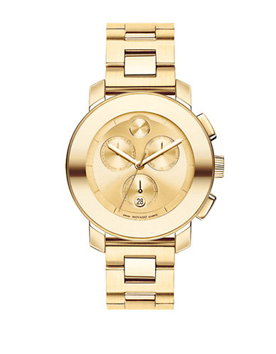 MOVADO BOLD Unisex Bold Goldtone Stainless Steel Chronograph Watch